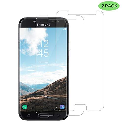 CNXUS Panzerglas Kompatibel für Samsung J7 2017, [2 Stück]  Panzerglasfolie Schutzfolie HD Klar 9H Härte Anti-Öl,  Blasenfreie Installation Displaychutzfolie für Samsung J7 2017