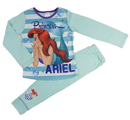 (Mädchen Disney Princess Ariel Kleine Meerjungfrau Pyjama Pyjama Pyjama Nachtwäsche Nachtwäsche - Aqua Streifen Ariel, 116)