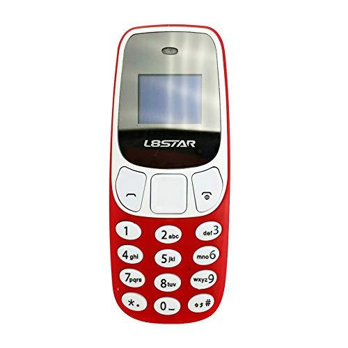 Erduo BM10 Wireless Bluetooth Auricolare Dialer Cellulare Hand-Free Auricolare Dual SIM Card Mini Telefono Cellulare Auricolare - Rosso