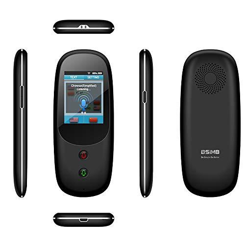 Dispositivo traduttore vocale Intelligente, in Tempo Reale bidirezionale, WiFi 4G, 2,4 Pollici, Touch Screen, Supporto 41 Lingue e traduzione Fotografica