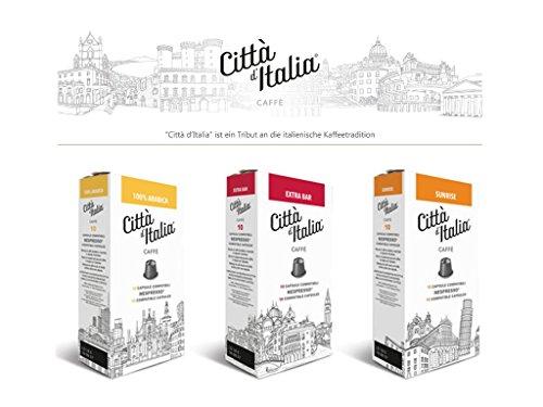 Citta d'Italia Nespresso kompatibel | 100% Arabica, Originaler italienischer Espresso | Drei verschiedene Mischungen | 90 Kaffeekapseln
