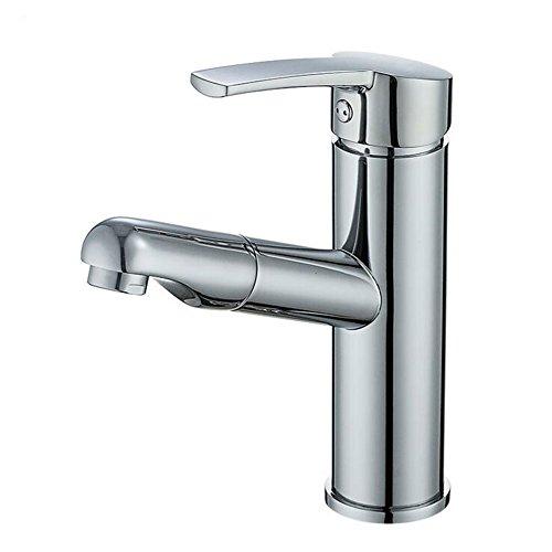 Preisvergleich Produktbild Exing Ausziehbecken Heißen und Kalten Wasserhahn Shampoo Kupfer Bad Versenkbare Waschbecken Waschtischarmatur (180 * 160 * 50mm) Wasserhähne