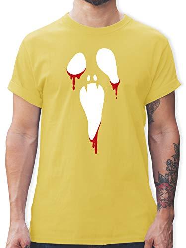 Halloween - Scream Halloween - M - Lemon Gelb - L190 - Herren T-Shirt ()