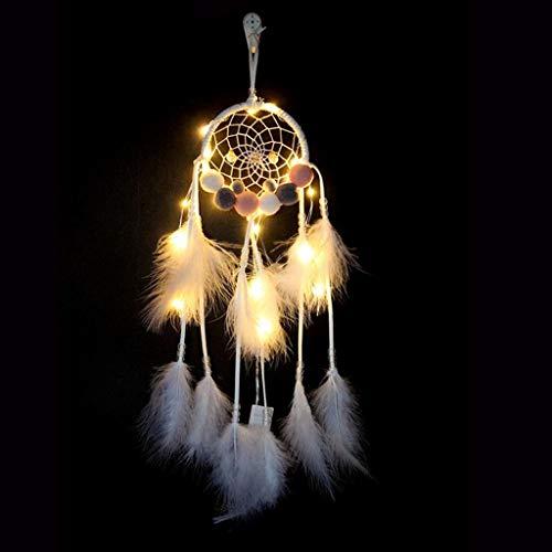 bloatboy Weiße Feder Handgemachte Haarball Nachtlicht Wandbehang Dekor Room Home Decor Raumdekoration Anhänger