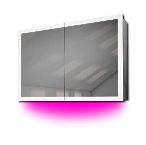 Diamond X Collection Audioschrank mit Randbeleuchtung, Bluetooth, Spiegelheizung, Sensor k466paud -