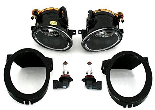 AD Tuning GmbH & Co. KG Set fari fendinebbia, Sinistra + Destra, Vetro Trasparente Cromato, compatibili Solo con paraurti M-Tech