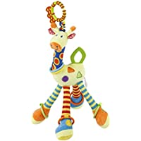 FPVRC Soft Plush Giraffe Animal Clip on Pram and Pushchair Baby Toy