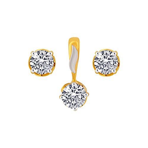P.C. Chandra Jewellers 10KT Yellow Gold Jewellery Set For Women