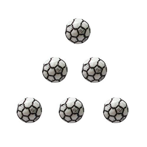 TOYANDONA Acryl Perlen Runde Fußball Form Kugel für DIY Schmuck Armband Halskette Machen 10mm 60 Stück