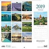 DRAEGER 79003078 Petit calendrier mural 14x18cm France 2019