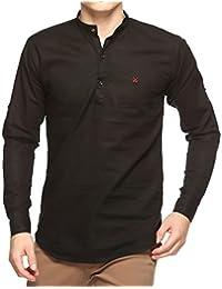 Lafantar Men's Slim Fit Kurta Shirt
