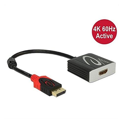 DELOCK Adapterkabel DisplayPort 1.2 Stecker > HDMI 2.0 Buchse schwarz 4K 60Hz Aktiv