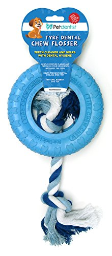 Natürliche Zahnarzt Gesund (Haustier Zahnarzt Beißring Zahnpflege Kauen Zahnseide Hundespielzeug (BLUE))