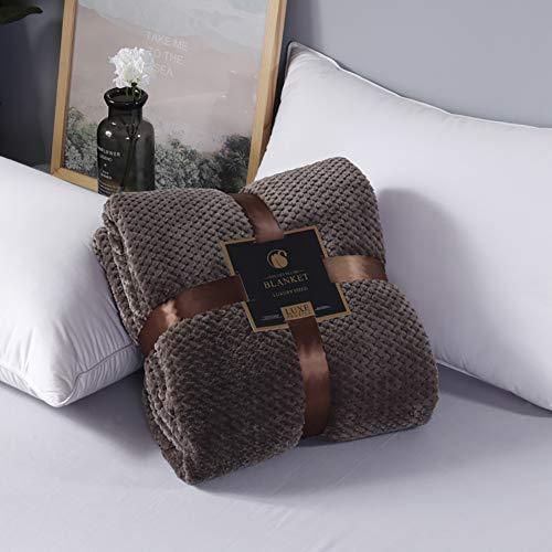 Throw, Decke aus Flanell-Fleece, weiche, kuschelige Mikrofaserdecke Barefoot Dreams Cozy Chic Throw Blanket, 59