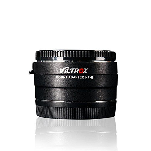 VILTROX NF-E1 Auto Focus Lens Mount Adapter for Nikon F-Mount Series Lens for Sony E-Mount Camera with Inseesi Clean Cloth