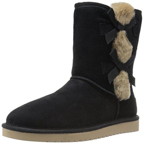 Koolaburra by UGG Women's Victoria Short Winter Boot, Black, 5 M US (Uggs Damen Stiefel Kurze)