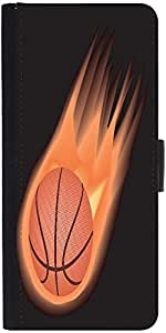 Snoogg Basketball Fire Designer Protective Phone Flip Case Cover For Lenovo Vibe S1