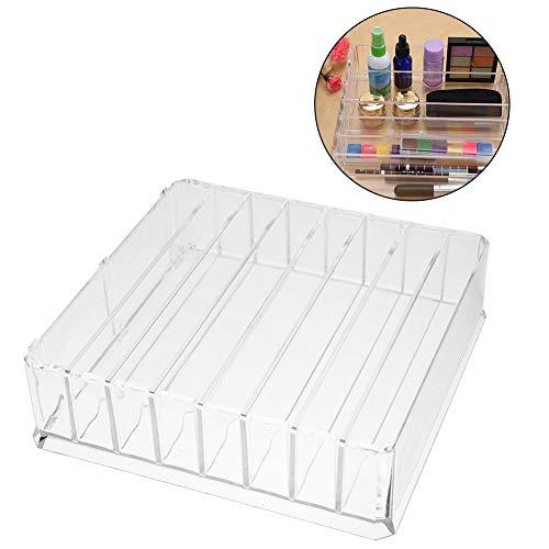 Cas cosmétique acrylique de stockage de bijoux, organisateur de support d'affichage de placard de tiroir extensible multifonctionnel pour la salle de bains, la commode, la vanité et le comptoir(Large)