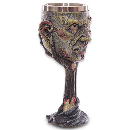 mtb more energy Deko Kelch ''Ricks Legacy'' | Zombie-Kopf-Becher (160ml) auf verwestem Arm | Höhe 19 cm | Dekoration Horror Fantasy