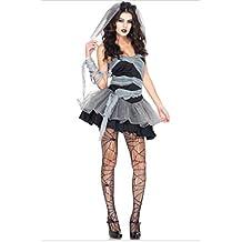 87eb5d3b3e Mujer Sexy barato Disfraz Halloween Muerto Zombie Novia Disfraz