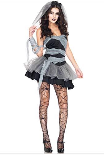 Mujer Sexy barato Disfraz Halloween Muerto Zombie Novia Disfraz