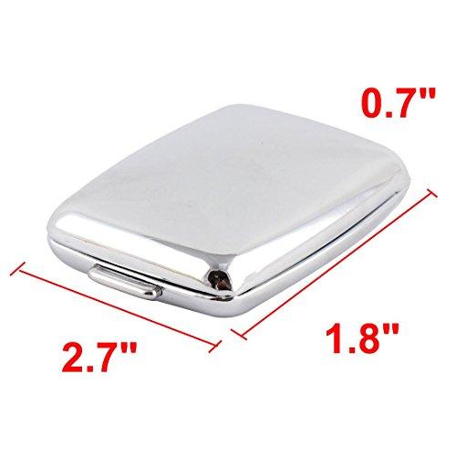 DealMux Metal Rectangle 2 Grid Moistureproof Medicine Holder Pill Storage Box 68 x 45 x 18mm Silver Tone