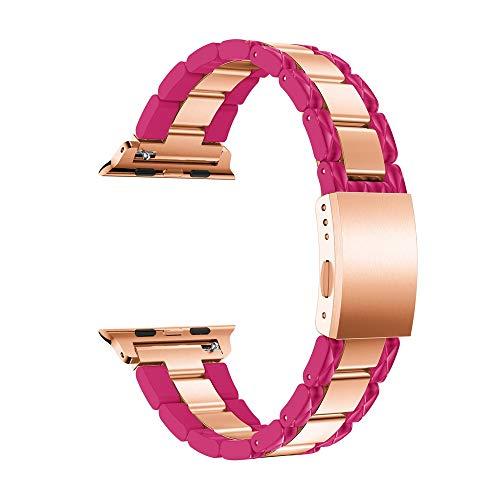 Battnot Uhrenarmbänder für Apple Watch 4 40mm/44mm/42mm Luxus Edelstahl Schnellspanner Easy Fit Uhrenarmband Handgelenksriemen für Damen Herren Einstellbar Ersatzband Replacement Wriststraps