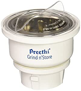 Preethi MGA-502 0.4-Litre Grind and Store Jar (White)