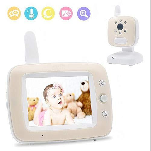 Baby Monitor Moniteur Vidéo Numérique avec Écran Couleur 3,5 Pouces, Vision Nocturne Infrarouge, Berceuses Apaisantes, Son Bidirectionnel Et Surveillance De La Température