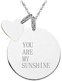 Halskette Damen-Schmuck You are my Sunshine Lachende Sonne Geschenk Weihnachten