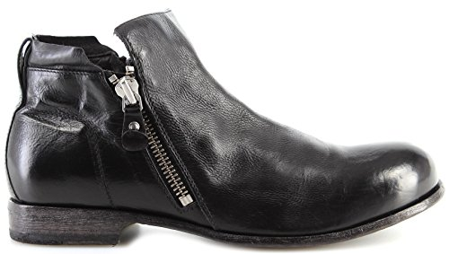 MOMA Chaussures Homme Bottes 20804-8A Todi Nero Cuir Noir Made In Italy Vintage