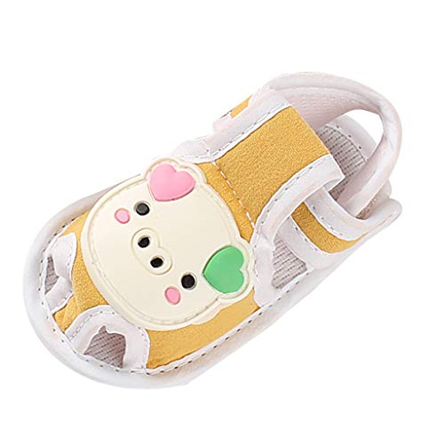 Baby Cartoon Ferkel Sandalen Kleinkind Schuhe Weichen Boden Klettverschluss Bequem Atmungsaktiv Einfarbig Niedlich ()