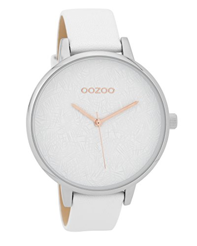 Oozoo Damenuhr mit Lederband 43.5 MM Weiss/Weiss C9590