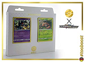 Parasek (Parasect) 7/181 & Nidoqueen 56/181 Tooboost X Sonne & Mond 9 Teams Sind Trumpf - Juego de 10 Cartas Pokémon alemanas + 1 Goodie Pokémon