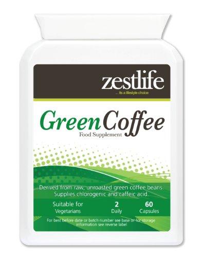 Zestlife Green Coffee Bean Extract Höchste Stärke 5000mg 60 Kapseln