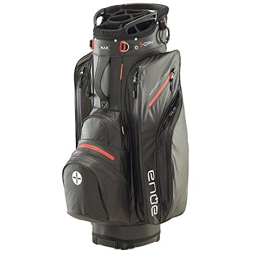 BIG MAX I-Dry Aqua Tour Golf Cartbag - 100% Wasserdichte Golftasche 2016 (Schwarz-Rot)
