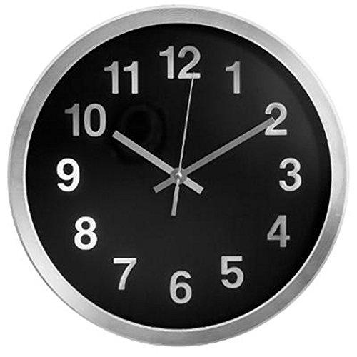 Paris Prix - Horloge Murale Design Aluminium 30cm Noir