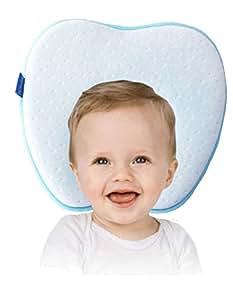 Cuscino neonato per Plagiocefalia | Evitare testa piatta neonato | Cuscino memory per bambini anti Testa Piatta | Cuscino Anatomico ed Ergonomico per il rimodellamento del Cranio anti Sindrome della testa piatta - brachicefalia - cuscino antisoffoco | 100% GARANZIA e SPEDIZIONE GRATUITA