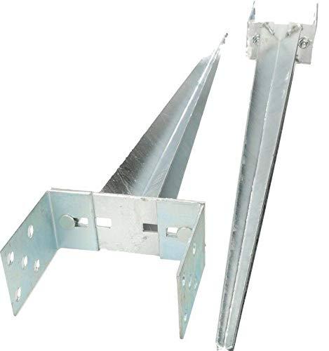 KOTARBAU Pfostenträger 0 - 160 mm Verstellbar Feuerverzinkt Einschlaghülse Pfostenträger Bodenhülse Einschlagbodenhülse Pfosten Anker Stahl Silber