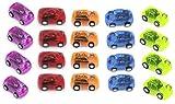 EEIEER Kleine Rennwagen zurückziehen und loslassen, 24 Pack Kunststoff Racer Fahrzeuge Spielzeug, 2