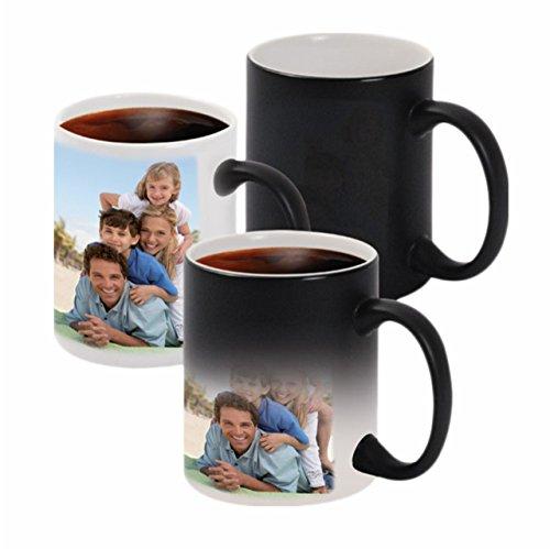 XpressionsOnline Ceramic Printed Personalised 330 ml Magic Mug (Black)