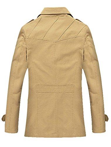 Vogstyle Herren Jungen Langarm Cabanjacke Reverskragen Trenchcoat Mantel Kurzmantel Einreihig Jack Anzug Art 1 Hellgelb