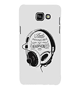 FUSON Headphones Graphic Illustration 3D Hard Polycarbonate Designer Back Case Cover for Samsung On5 (2016) New Edition For 2017 :: Samsung Galaxy On 5 (2017)
