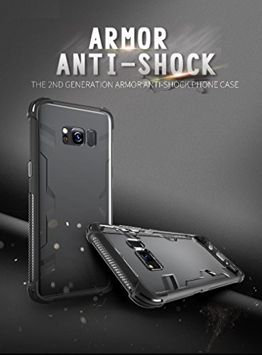 Sanchar's Defender 2 for samsung s8 plus case Back Cover Shock Absorbing protective Transparent Black case cover + TPU bumper for samsung galaxy s8 plus award wining military grade tech protection ShockShield + Aircushion Technology anti brust armor professional protection for samsung s8 plus / s8plus / s8+