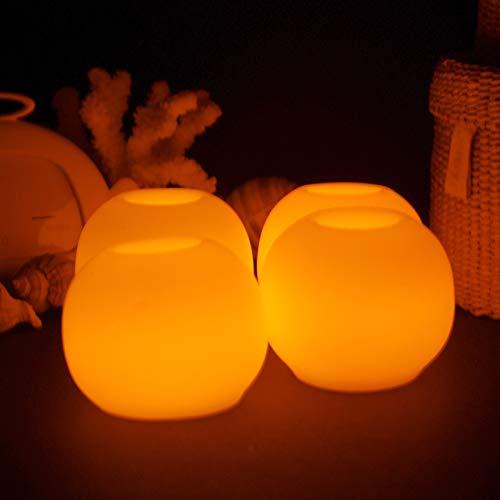 4 UNID Creativo Bola Redonda LED Lámpara de Vela Amarillo de Alta Calidad Mini Vela Electrónica de Luz para la Decoración Del Banquete de Boda Luz del Té