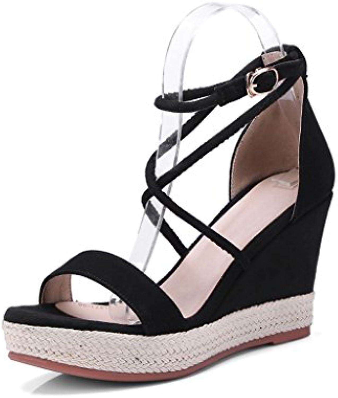 Sandalias de Verano para Mujer Chunky Heel Hebilla Zapatos Damas al Aire Libre Comodidad Punta Abierta Sandalias... -