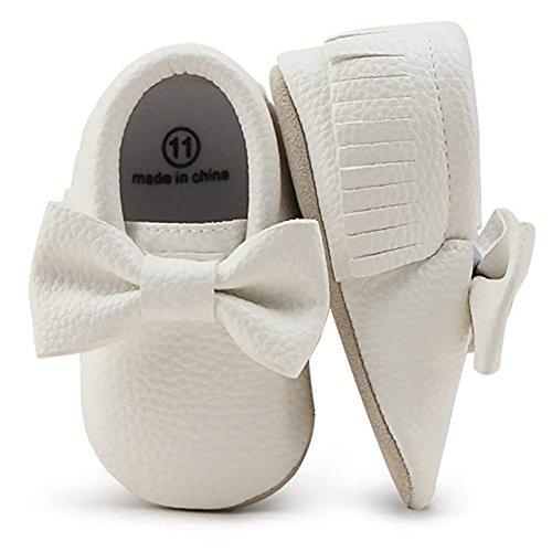 OOSAKU Baby Jungen Schuhe Neugeborenen Krippe Schuhe mit Weicher Sohle PU/Leder Quaste
