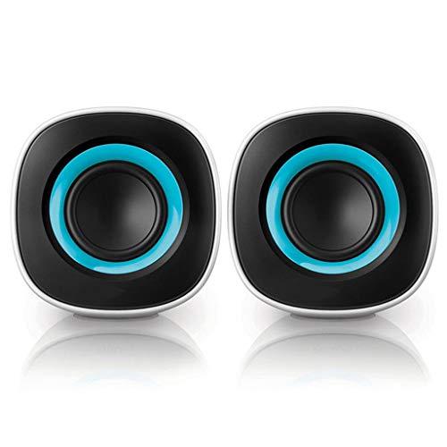 Ende der Wüste Audio-Home-Desktop-Computer Notebook kleine Lautsprecherkombination Multimedia USB-Mini-Lautsprecher (Farbe: weiß) (Color : Blue) -