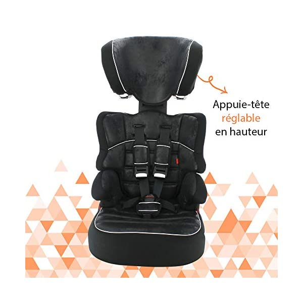 Nania Beline Group 1/2/3 Highback Booster Car Seat, Pink nania High back booster car seat with harness Designed to ensure your little one travels in comfort Padded and adjustable height headrest 6