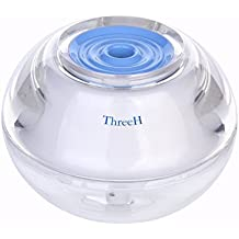 ThreeH USB Humidificador de aire para ojos nariz garganta piel - mini Difusor de aroma portátil silencioso con nightlight - Apagado automático seguro H-H012Blue